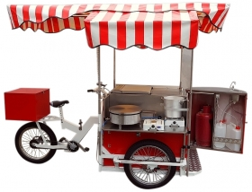 Street Food Carts on Tricycles - Cargo Bike System  Tricycles
